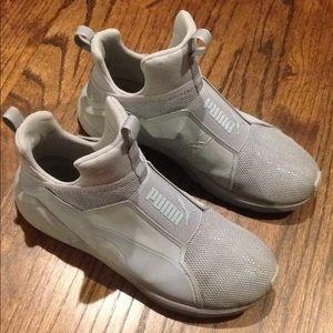 Puma gray sneakers shoes walking 8